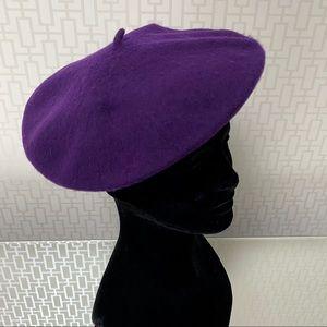 Emily in Paris French Beret Hat - dark purple